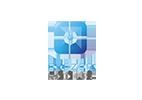 logo essilor ® eyezen ™ focus. Un carré en forme de cible avec un point au milieu avec les couleurs qui sont filtrés (bleu/violet)